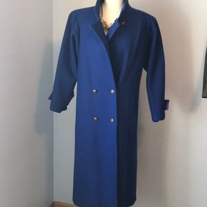 Vintage Jofeld wool long coat retro